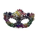 CAOLATOR.Máscara de Encaje Colorear Estilo Sexy Mujeres Linda Retro Antifaz para Mascarada Veneciano Carnaval Halloween Fiesta de Baile Disfraces Juguetes para Pareja