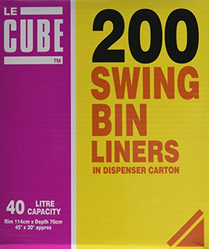 Le Cube 480-Dispensado de bolsas de basura, 40L (200 unidades)