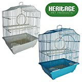 Heritage Jaulas 2112Corfe Jaula de Pájaros Tamaño pequeño diseño de periquito Pájaros Canary 30x 23x 39cm Pet Home