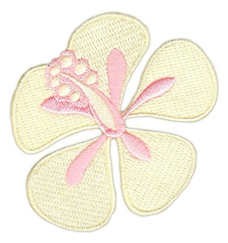Hibiskus Blüte Vanille-Gelb Aufnäher Bügelbild (Vanille Blüte)
