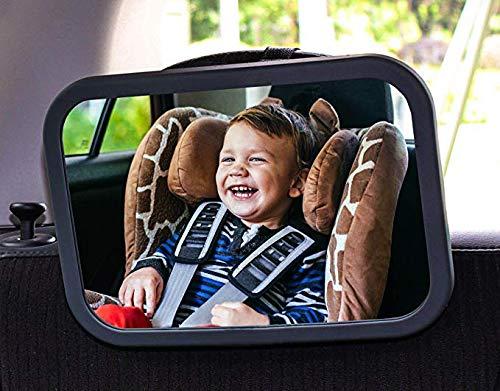 YIXINGLIAN Rückspiegel für den hinteren Kinderwagen - hochwertiger schwarzer Rahmen - der sicherste Anti-Fall-Kinderwagenspiegel - sorgt für Sicherheit im hinteren Kindersitz