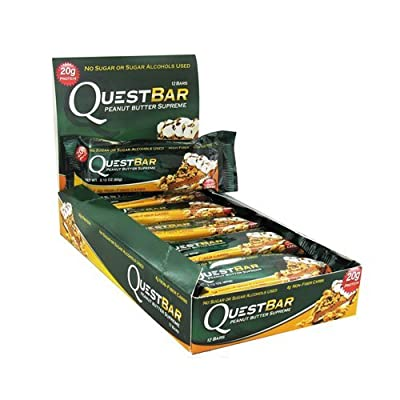 Quest Nutrition Peanut Butter Quest Bar Protein Bar - Pack of 12 Bars from Quest Bar