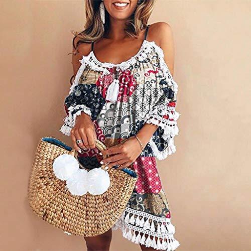 26f343e51 wave166 Vestido,Maxi Vestido de mujer Cóctel de las mujeres de Boho del  partido de noche largo del vestido del verano de la playa vestido V-Cuello  de ...