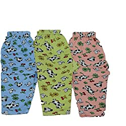 Kids Couture Unisex Cotton Lowers(KC-02-18-24_Multi_18-24 Months)(Pack of 3)