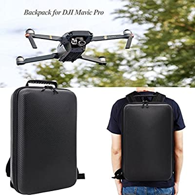 Carrying Case For DJI Mavic Pro Accessories Waterproof Hard-shell Box Anti-Shock Suitcase with Foam Black by Crazepony-UK