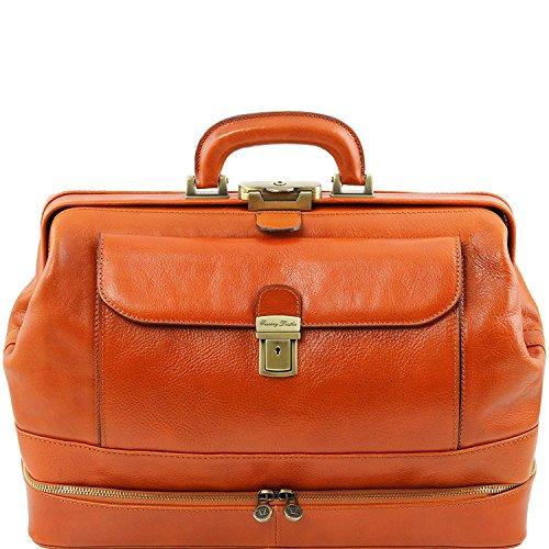 Tuscany Leather - Giotto - Esclusiva borsa medico in pelle con doppio fondo Marrone - TL141297/1 Miele
