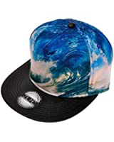 ZLYC New Fashion High Quality Landscape Palm Wave Temple Digital Print Hat Adjust Baseball Snapback Cap