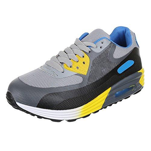 Ital-Design, Sneaker donna Grigio (Grigio/Giallo)