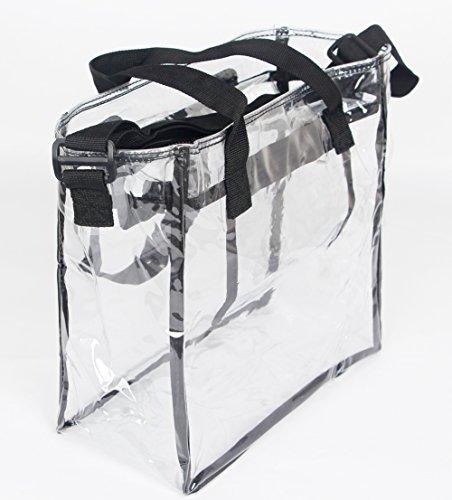 Clear Cross Body Messenger Umhängetasche Clear Tote Bag Entspricht der NFL und PGA Stadium Security Approved