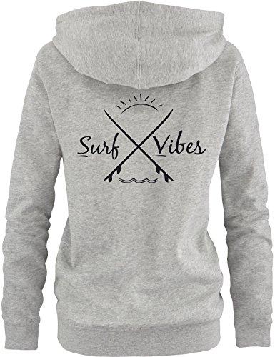 EZYshirt® Surf Vibes Damen Zip-Hoodie