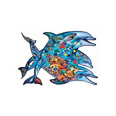 Deep Blue Sea 1000 Piece Shaped Dolphin Puzzle by Sunsout by Sunsout