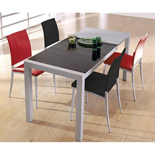 SHIITO Mesa de Cocina Extensible de Carro 122 x 70 cm en Aluminio ...