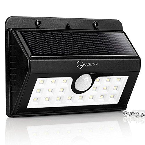 Generation Solar-led-licht Der 2. (Auraglow Drahtloser Superhelles Sicherheitslicht mit PIR Bewegungssensor Wetterfest Solarbetrieben Sicherheit Licht 20 LED's - 3 Intelligiente Modi)