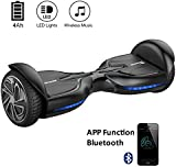"""EVERCROSS Diablo Smart Two Wheels Self Balancing Electric Scooter with Bluetooth,3 Adjustable Speed Modes, Moblie App, 6.5"""" Smart Electric Personal Transportation"""
