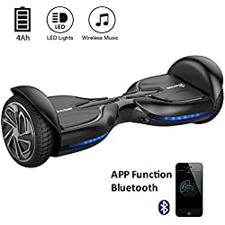 "EVERCROSS Diablo Hoverboard Patinete Eléctrico Scooter talla 6.5"" Bluetooth (Negro)"