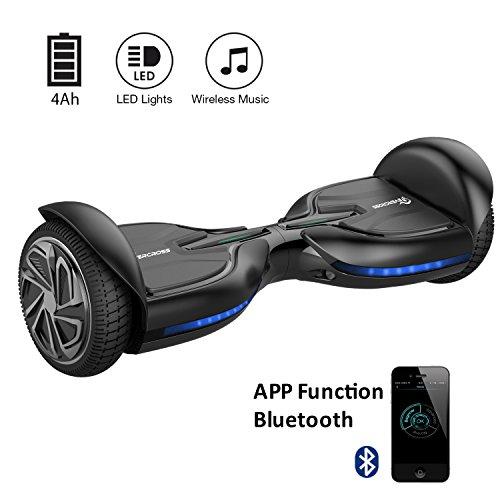 EVERCROSS Hoverboard Diablo 6,5' Smart Skateboard Électrique Bluetooth Scooter Certifié CE de Boutique GyroGeek (Noir)