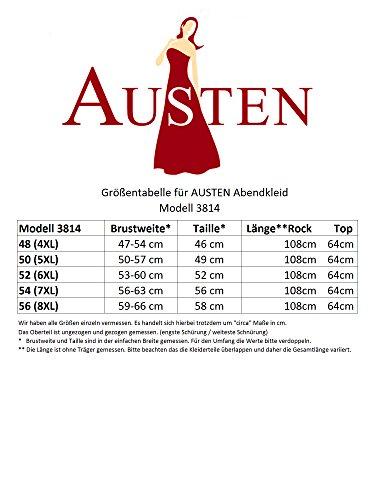 Austen 3814 de soirée - 2 pièces avec laçage dorsal intégrés atténuent taille 48 Bleu - Petrol-Blau