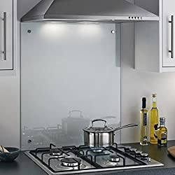 Clear Toughened Heat Resistant Glass Splashback Available in Various Sizes - 60 x 70cm