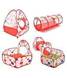 #9: radhe Enterprise 3-in-1 Tunnel Ball Pool Tent, Fold-able, Outdoor Tent House