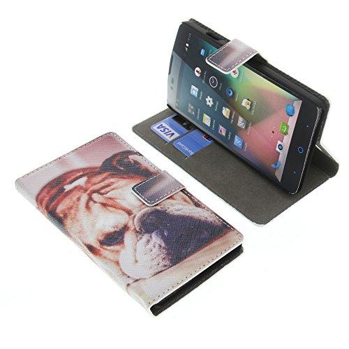 foto-kontor Tasche für ZTE Blade L3 Plus Book Style Knuffiger Hund Schutz Hülle Buch