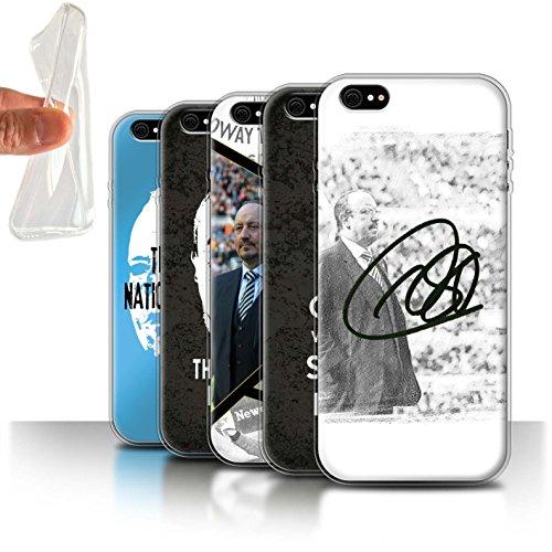 Officiel Newcastle United FC Coque / Etui Gel TPU pour Apple iPhone 6+/Plus 5.5 / Pack 8pcs Design / NUFC Rafa Benítez Collection Pack 8pcs