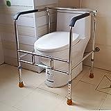 ZQA&N Barras de sujeción en el baño _ mujeres embarazadas barandilla de acero inoxidable al baño ancianos silla de WC WC aseo, estante personas con discapacidad asistida