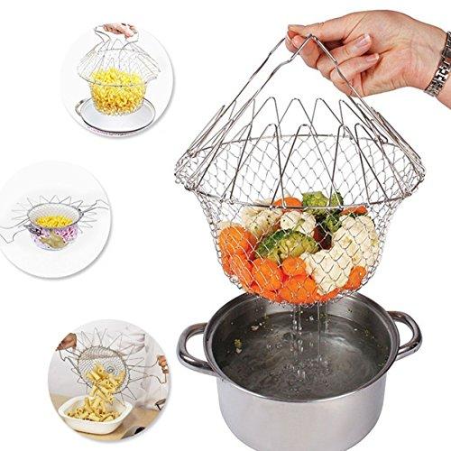 fry-french-chef-basket-abtropfsieben-lebensmittel-sieb-faltbar-dampf-spulen-zugentlastung-magic-rest