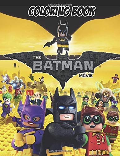 the BATMAN MOVIE Coloring Book: 37 Exclusive Illustrations with Mazes and Puzzles