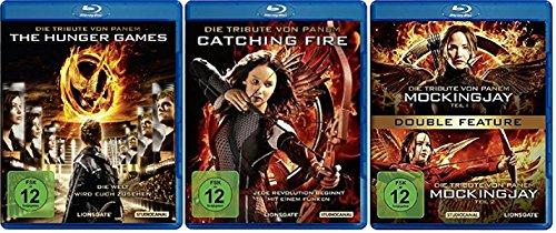 Die Tribute von Panem komplett - Alle Teile [Blu-ray Set] - Teil 1+2+3.1+3.2 (Games Hunger Film)