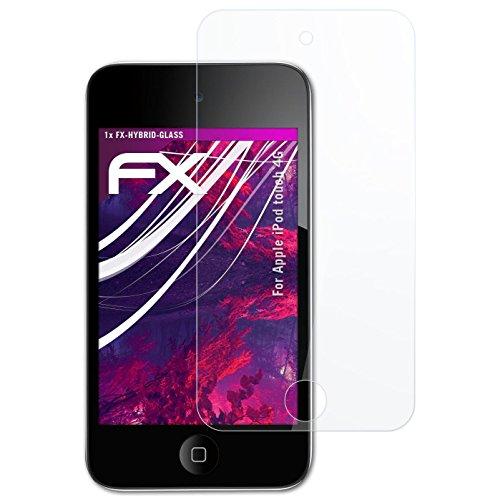 atFoliX Glasfolie kompatibel mit Apple iPod Touch 4G Panzerfolie, 9H Hybrid-Glass FX Schutzpanzer Folie Ipod Touch 4 Hybrid