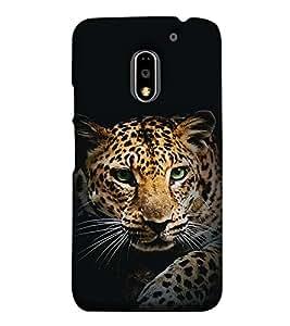 Fuson Designer Back Case Cover for Motorola Moto E3 :: Motorola Moto E (3rd Gen) (The tiger theme)