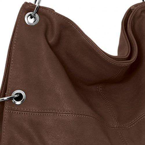 CASPAR TS561 Damen Multifunktions Schultertasche / Umhängetasche Marone