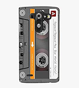 For LG G3 Mini cassette, radio cassette, vintage cassette Designer Printed High Quality Smooth Matte Protective Mobile Case Back Pouch Cover by APEX