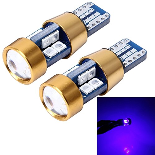 Éclairage de la voiture, 2 PCS T10 3W lampe de dégagement de voiture sans erreur avec 19 lampe LED SMD-3030, DC 12V (Couleur : Blue light)