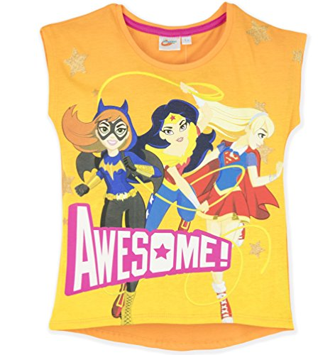 DC Superhero Girls - Camiseta de Manga Corta - para...