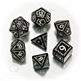 Q-Workshop QWORUN19 - Brettspiel Runic glow-in-the-dark Dice Set, schwarz
