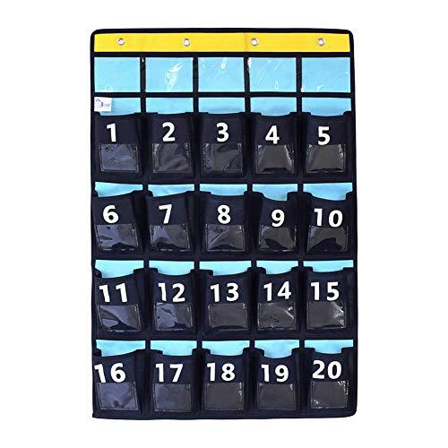 Nummerierte Klassenzimmer-Pocketchart, Womdee-Ordner mit hängenden Ordnern mit 30 Taschen, 5 Fach über Türaufhängern | Hanging Wall File Organizer Cabinet - Organisieren Sie Ihre Dateien (Hängende Ordner Dateien)