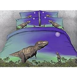 JF-045 cuatro piezas de dibujos animados salvajes kids dinosaurio T-Rex y luna imprimir cama 3D