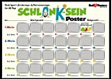 Schlank-sein Abnehm Diät Rubbel Poster - Scratch Motivations Plakat / Rub-it-Posters® + Geschenkverpackung. Verschenkfertig!