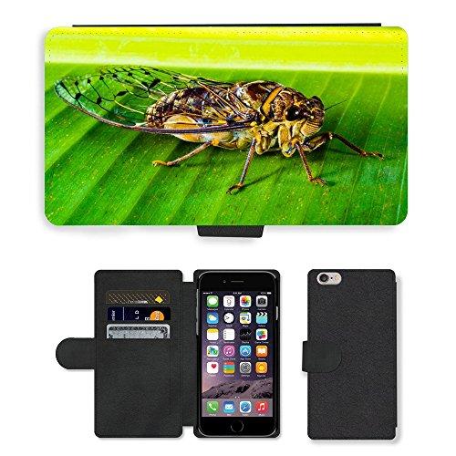 Just Mobile pour Hot Style Téléphone portable étui portefeuille en cuir PU avec fente pour carte//m00138385insectes New insectes Homer Fermeture//Apple iPhone 6Plus 14cm