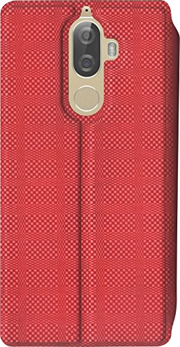 SBMS 10.or G Rexine Flip Cover (2x8.4x15.5cm, Red, Sales246)