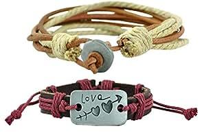 Alpha Man Couple Friendship bracelets in Love Combo Leather Bracelets
