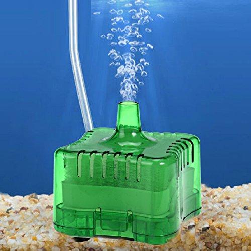 tongshi Acquario Fish Tank Super pneumatico Biochemical Filtro al carbone attivo (Verde)