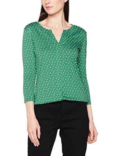 TOM TAILOR Damen Bluse Draped Open Blouse Shirt, Grün (Ecuador Green 7793), 40 (Herstellergröße: L)