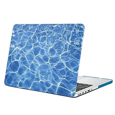 MOSISO MacBook Pro 13 Retina Hülle (NO CD-ROM Drive) - Ultra Slim Hochwertige Hartschale Tasche Schutzhülle Snap Case für MacBook Pro 13 Zoll mit Retina Display (A1502 / A1425, Version 2015/2014/2013 / Ende 2012), Wasser Ripples