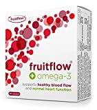 Fruitflow 150mg + Omega 3, Blood Pressure Supplement for Healthy Blood Flow, Normal Heart Function, Blood Pressure, Blood Circulation Booster, with DHA & EPA, 30 Capsules, One-a-Day