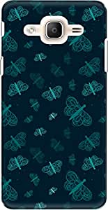 The Racoon Lean printed designer hard back mobile phone case cover for Samsung Galaxy On7 Pro. (Cyan Float)