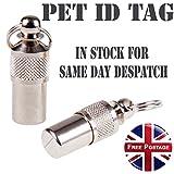 Silver Anti-Lost Pet Dog Cat Puppy ID Address...