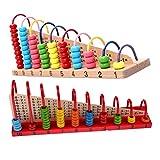 Demiawaking Baby Kinder Hölzern Kind Abakus Zählung Perlen Mathe Lernen Pädagogisches Spielzeug