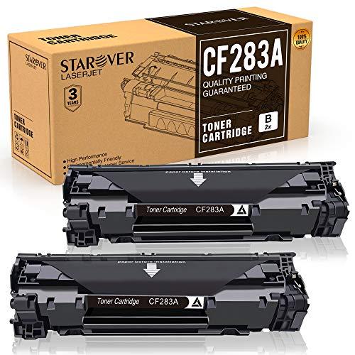 STAROVER 2x 83A CF283A Cartucho De Tóner Compatible Para HP Laserjet Pro MFP M125a M125nw M125rnw M126a M126nw M127fn M127fp M127fw M128fn M128fp M128fw M201dw M201n